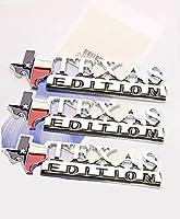 Yoaoo ® 3x OEM chrometexas Editionエンブレムバッジフォードf150Ram 1500SierraシボレーシルバラードGMC光沢