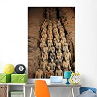 Terracotta Warrior Statues Qin Wall Mural by Wallmonkeys Peel and Stick Graphic (72 in H x 48 in W) WM358448 [並行輸入品]
