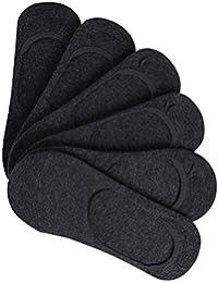 uxcell メンズ 靴下 アンクルソックス フットカバー ノンスリップ 伸縮性 カジュアル 通気性 6足セット