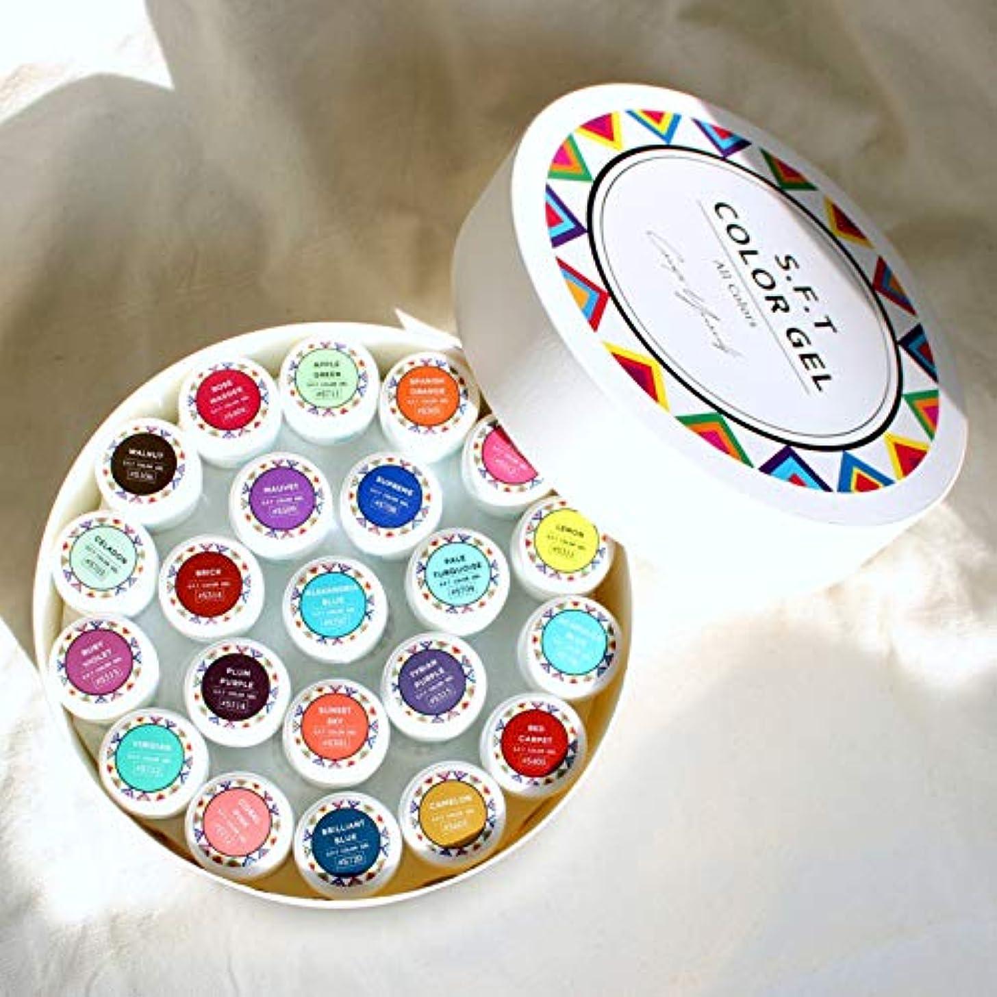 イーウェル収容する淡い日本製 ジェルネイル S.F.T Color GEL 全色セット 93色 FUNSIDË ファンサイド カラージェル