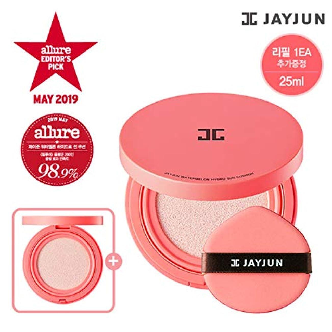 必須脅威装置ジェイジュン スイカハイドロサンクッション SPF50+/PA++++ / Jayjun Watermelon Hydro Sun Cushion (本品 25g + 詰め替え 25g)