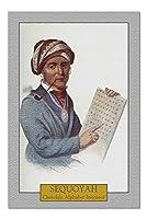 Sequoyah - チェロキーアルファベット発明家のポートレート (20x30 プレミアム1000ピースジグソーパズル アメリカ製)