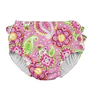 アイプレイ iplay オムツ機能付 水遊び用パンツ スイムダイパー スイミングパンツ 女の子 XL:24ヶ月 Light Pink Paisley Elephant