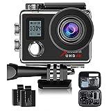 Campark®ACT76 アクションカメラ  4K 水中防水 防塵 高画質 30fps ウルトラHD 予備バッテリープレゼント