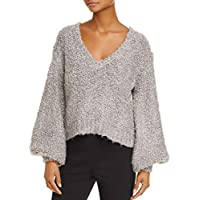 C/Meo Collective Gray Womens US Size Medium M V-Neck Knit Sweater