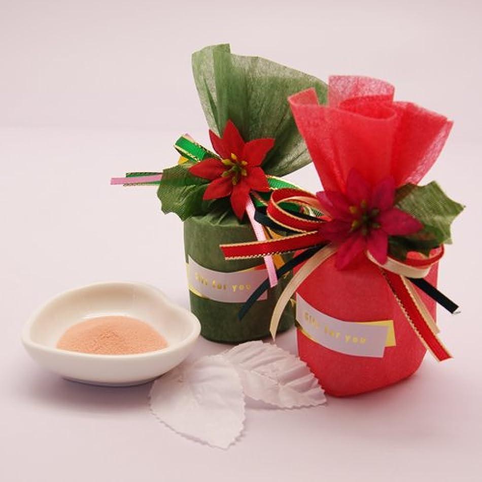 読みやすさアライメントクリスマス【プチギフト】ポインセチアバス(入浴剤1包)