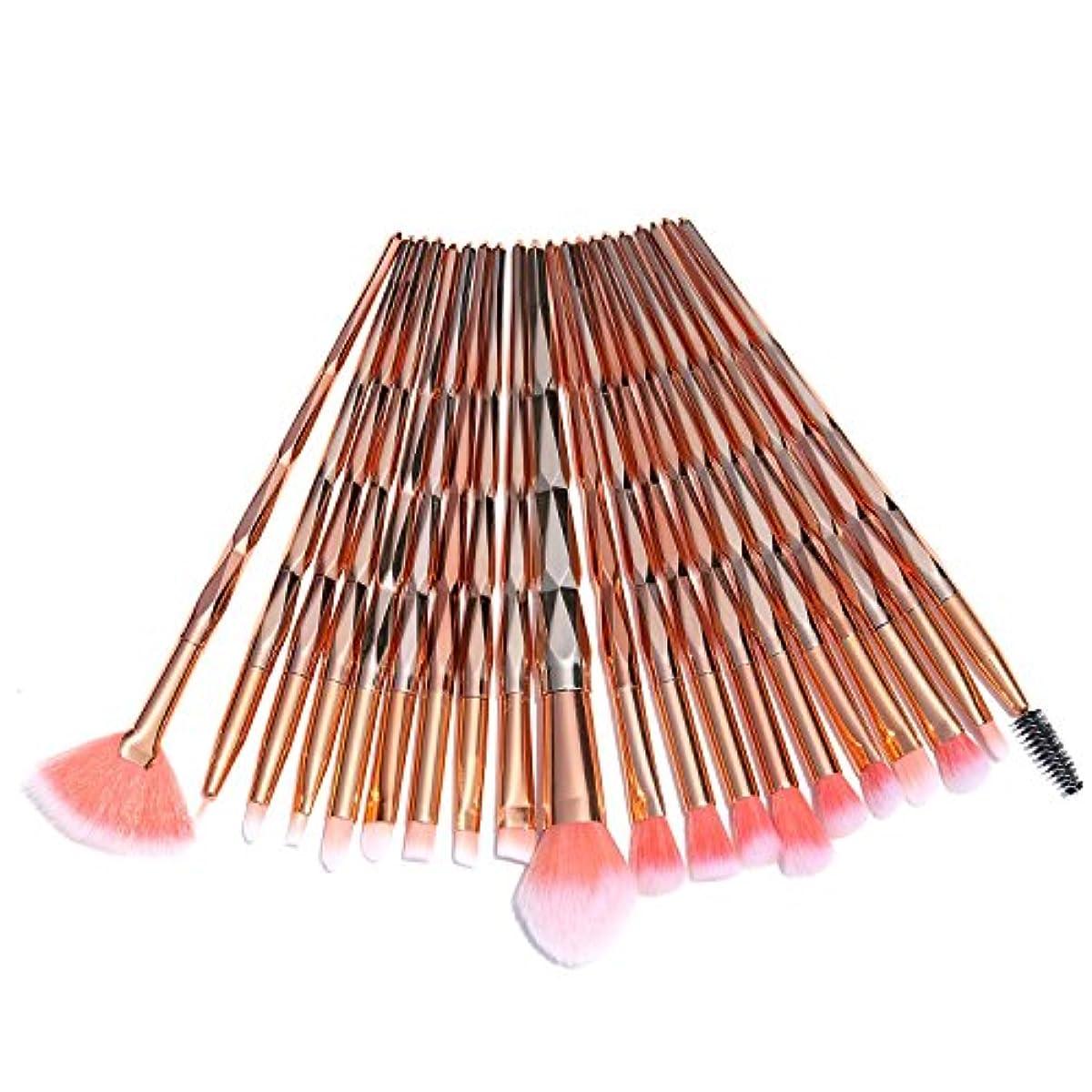 最小化する支配的に付けるAiceBeu アイシャドウブラシ 20本 メイクブラシ (ゴールデン)