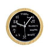 HTH 理系専用 数学 テーブルクロック ウッドブラック