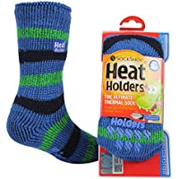 Heat Holders Kids Warm Winter Thermal Gripper Anti-Slip Socks 3-8 years