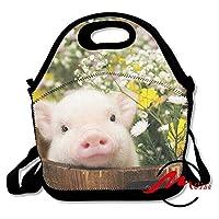 ZMvise花貯金箱ランチトート絶縁再利用可能なピクニックバッグボックス男性女性青少年十代の看護師旅行バッグ