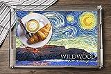 ワイルドウッド ニュージャージー州 - イーストコースト灯台 - 星月夜98210 (アクリル製サービングトレイ) 画像