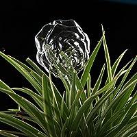 ガラス 自動給水装置 植物 みずやり 自動 盆栽 野菜 水やり当番 土に挿し 散水 潅漑 留守用 植物花自動装置 ガーデニング用品 繰り返し使用可能 (花型)