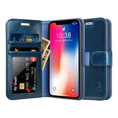 Labato iPhone X ケース 手帳型 本革 カード...
