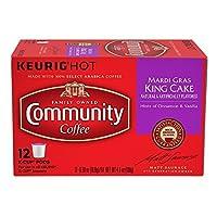 コミュニティコーヒーMardi Gras Kingケーキボックス12のk-cups