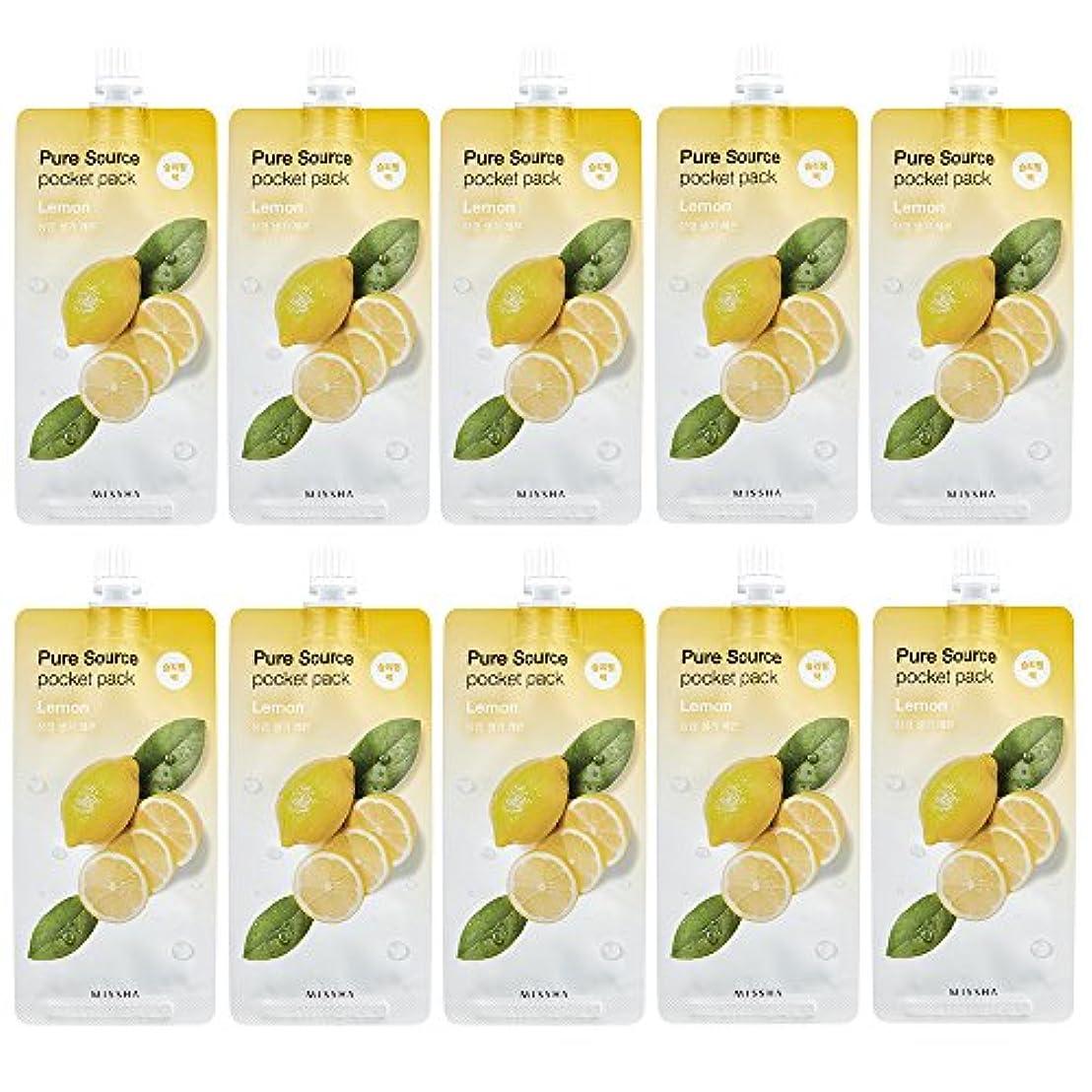シャックル取り除くミッションミシャ ピュア ソース ポケット パック 1個 レモン(スリーピングパック)