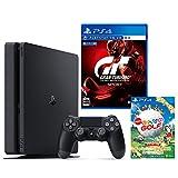 PlayStation 4 ジェット・ブラック 500GB + グランツーリスモSPORT + New みんなのGOLF ダウンロード版【Amazon.co.jp限定】オリジナルカスタムテーマ配信