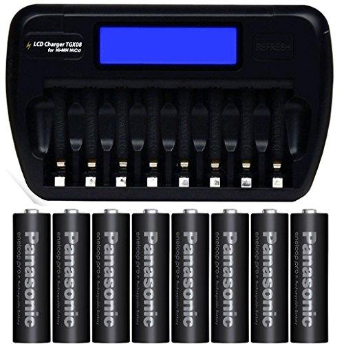 エネループプロ単3電池8本 & 8本同時充電器 TGX08 ...
