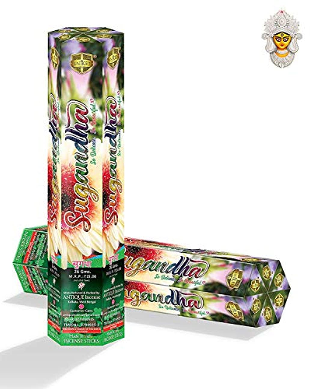 代数ペダルおしゃれじゃないSUGANDHA Sweet & Pleasant Fruity Fragrance Incense Sticks for Pooja (Moisture Proof Pack of 12)