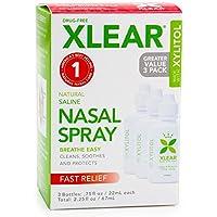 Xlear Inc (Xclear), Xylitol, Natural Saline Nasal Spray, 3 Bottles, .75 fl oz (22 ml) Each