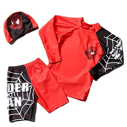 ad38b76c9de6ea 水着 子供 ラッシュガード キッズ スパイダーマン ベビー水着 子供水着 男の子 ベビー 海水パンツ 帽子 ジュニア