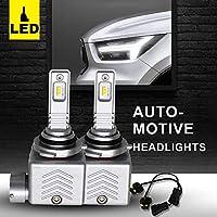 XIANGSHANG HB4 9006 LED ヘッドライト バイク 車用 ZESチープ搭載 DC12V車対応 普通車 ハイブリッド車(HV車 EV車)車検対応 12000LM/60W IP65防水レベル 6500K 瞬時起動 高品質 集光性放熱性抜群 純正ハロゲンサイズ交換品 内部冷却ファン搭載 フォグランプ ホワイト 2年保証付き 専門説明書付き 2個セット [並行輸入品]