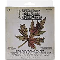 Sizzix Layered Leaf Bigz Die with A2 Texture Fades Folder by Tim Holtz