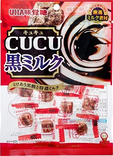 味覚糖 CUCU 黒ミルク 80g ×4袋