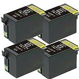 ICBK75 4個セット染料増量タイプEPSON(エプソン)対応 高品質互換インクカートリッジ ICチップ付残量表示機能対応(JAN:4571498425690)