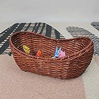 SLH 独創性フルーツバスケットリビングルームコーヒーテーブルビスケットスウィーツスナックバスケット (Color : Brown)