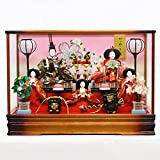 雛人形 ひな人形 綾菜 三五親王 芥子官女 五人飾り ケース飾り オルゴール付き 【HNFO-163-560MRT】