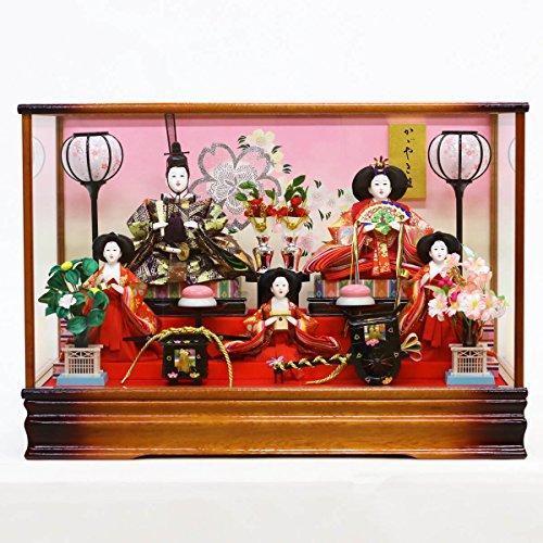 雛人形 ひな人形 綾菜 三五親王 芥子官女 五人飾り ケース...