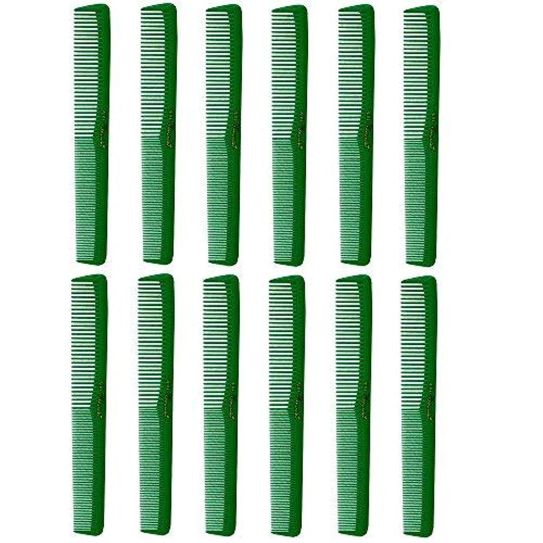 アクティビティ女の子徹底Barber Beauty Hair Cleopatra 400 All Purpose Combs (12 Pack) 12 x SB-C400-GREEN [並行輸入品]