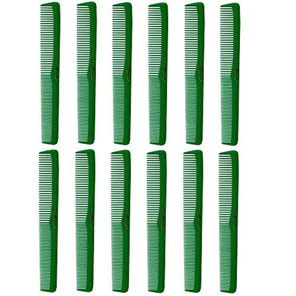 Barber Beauty Hair Cleopatra 400 All Purpose Combs (12 Pack) 12 x SB-C400-GREEN [並行輸入品]