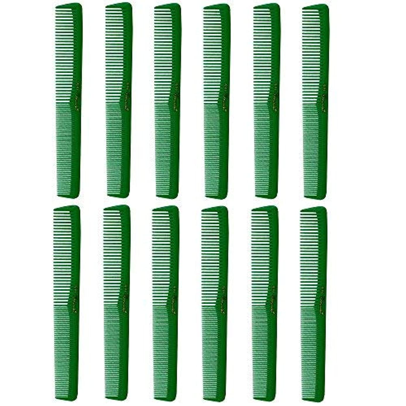 憤る見捨てられたカテナBarber Beauty Hair Cleopatra 400 All Purpose Combs (12 Pack) 12 x SB-C400-GREEN [並行輸入品]