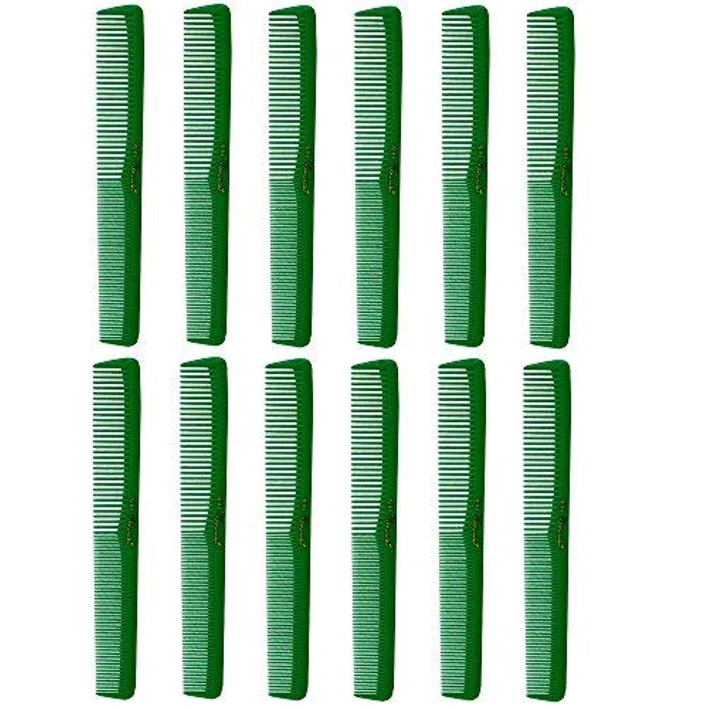 集中ゲスト黄ばむBarber Beauty Hair Cleopatra 400 All Purpose Combs (12 Pack) 12 x SB-C400-GREEN [並行輸入品]