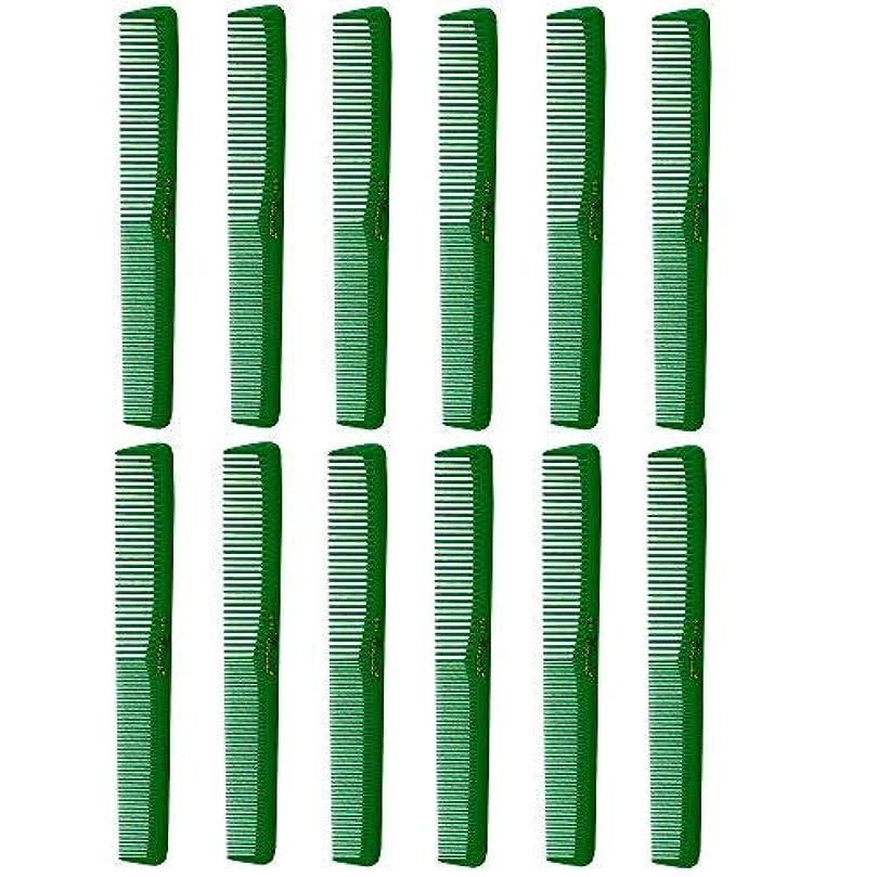 溶ける生命体重要性Barber Beauty Hair Cleopatra 400 All Purpose Combs (12 Pack) 12 x SB-C400-GREEN [並行輸入品]