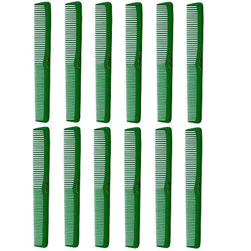 スリーブシェード中間Barber Beauty Hair Cleopatra 400 All Purpose Combs (12 Pack) 12 x SB-C400-GREEN [並行輸入品]