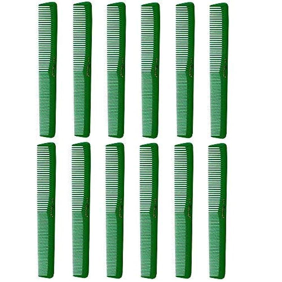 ステッチカタログおBarber Beauty Hair Cleopatra 400 All Purpose Combs (12 Pack) 12 x SB-C400-GREEN [並行輸入品]