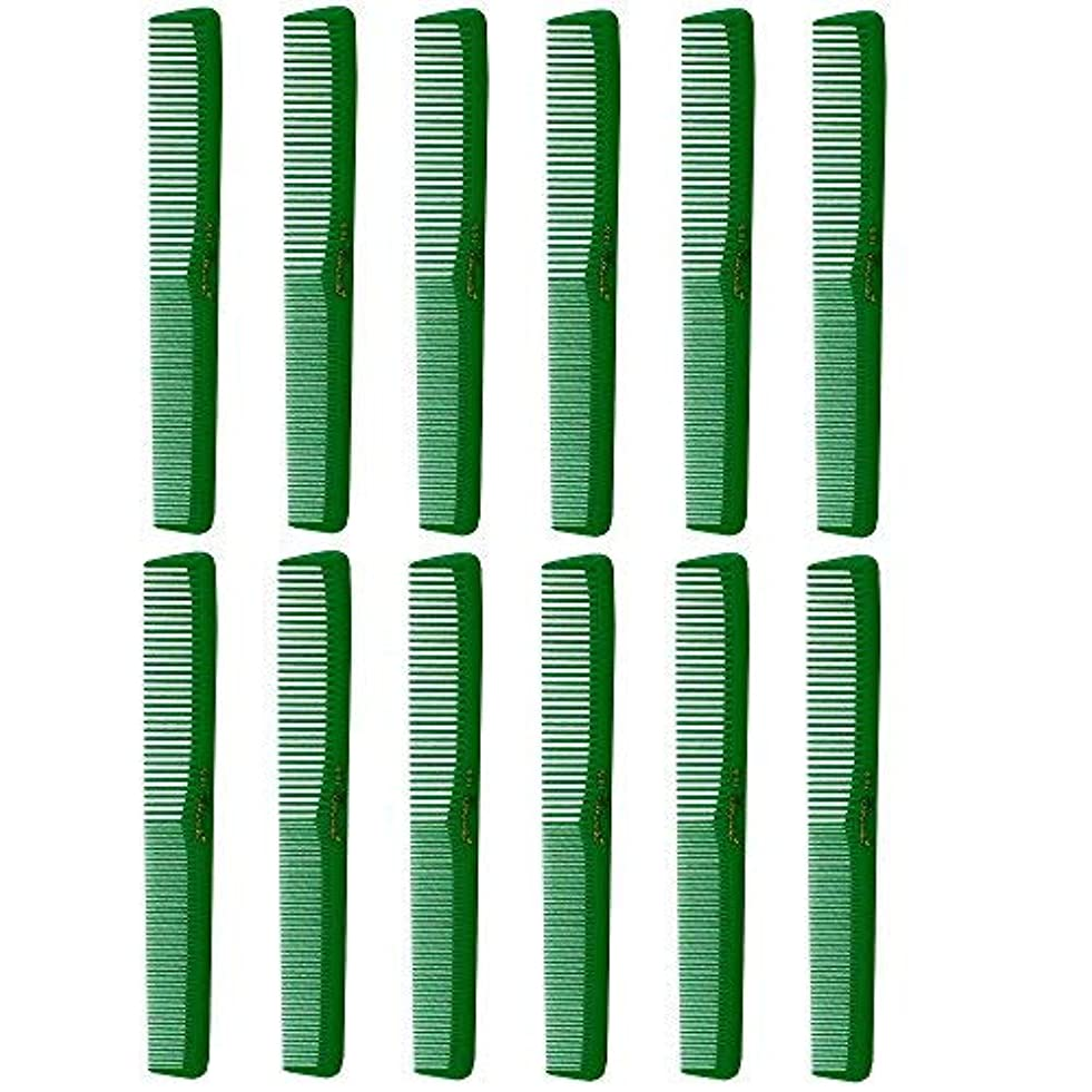 望む石炭真似るBarber Beauty Hair Cleopatra 400 All Purpose Combs (12 Pack) 12 x SB-C400-GREEN [並行輸入品]