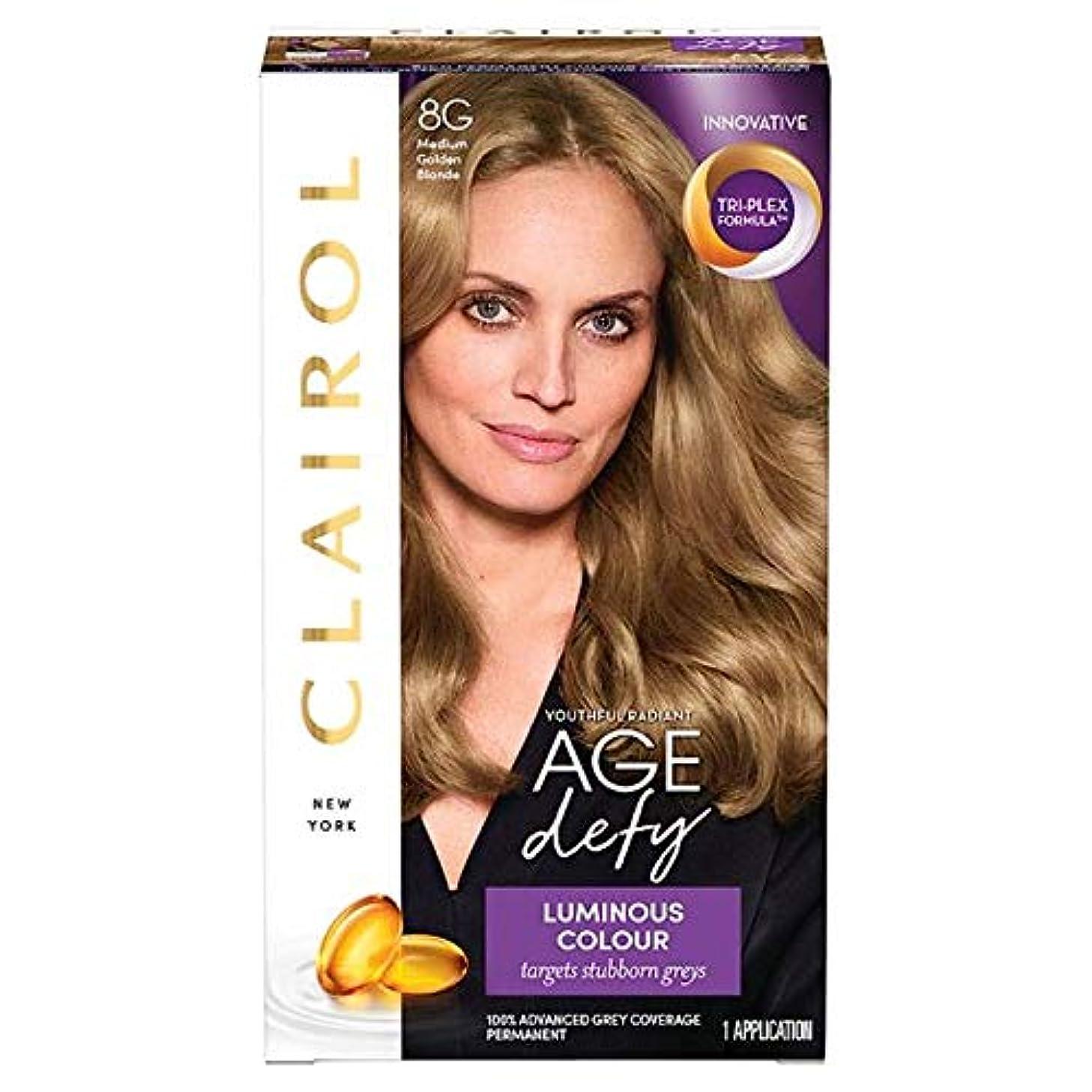 珍しい部門純粋な[Nice'n Easy] クレイロール素敵な「N簡単年齢はメディアの黄金ブロンド8グラムを挑みます - Clairol Nice 'N Easy Age Defying Medium Golden Blonde 8G...