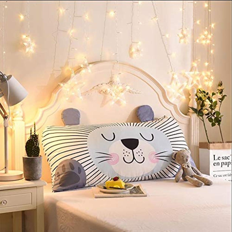 YYFRB 漫画のウエストの長方形のウエストのパッド/ソファーの枕オフィスの背部車の枕クッション/ 50CM×110CM 枕 (Color : D)