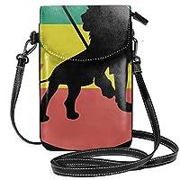 ラスタファリ クールラスタライオン ピースサイン ミニバッグ レディース ショルダーバッグ 携帯ポーチ 軽量 便利 ショルダーバッグ 携帯電話の財布