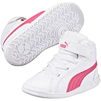 PUMA Juniors Ikaz Mid V2 V Ps, White-Rapture Rose, Running Shoes