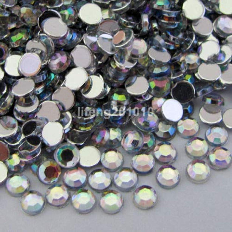 気難しい本円形FidgetGear 10000ピースアクリルネイルアートの携帯電話の装飾フラットバックラインストーンホワイトAB ホワイトAB