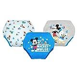 ☆★ディズニー【 Disney】★☆ヒップにミッキーキャラクター防水加工3層トレーニングパンツ3枚組 (100cm, ミッキー)