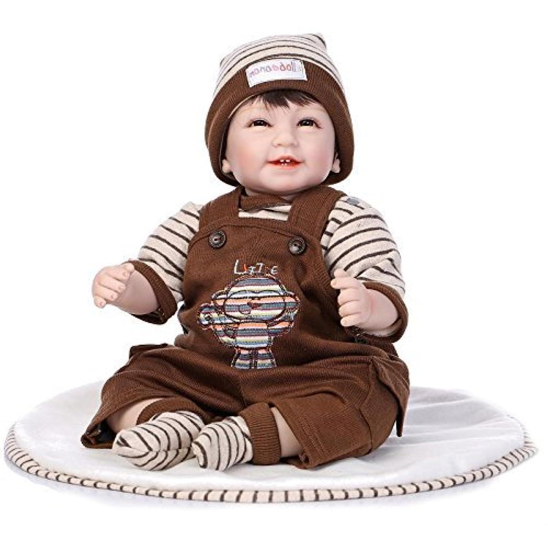 So Truly Lifelikeベビー人形Poseable Reborn Smile Boy Aliveハンドメイドソフトビニールおもちゃ、22インチ