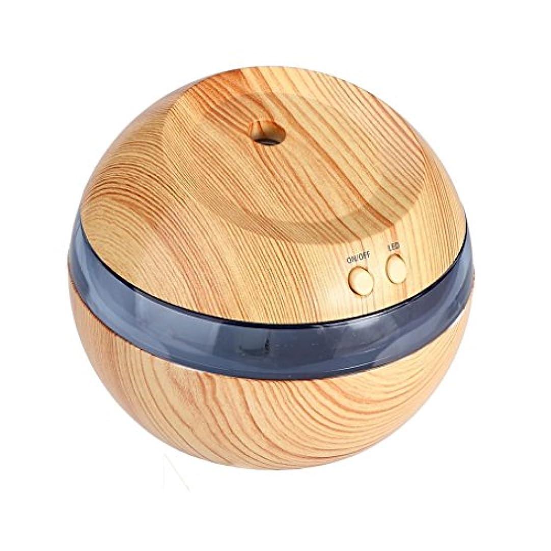 曲線誤解する章Hometom加湿器、LED Aromatherapy Essential Oil Diffuser超音波クールなミスト吹き出し口、290 ml