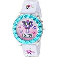 Disney Kids' PDP4008 Digital Display Quartz White Watch