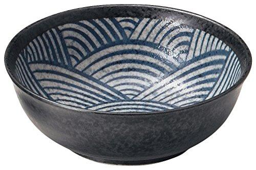 美濃焼 青海波 -江戸小紋- 煮物鉢 W30006