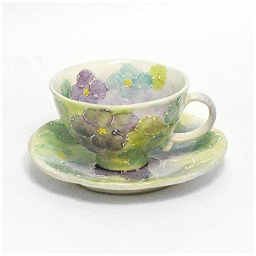 【瀬戸焼 コーヒー碗皿】 一珍花紋 コーヒー碗皿(青)  / お楽しみグッズ(キッチン用品)付きセット